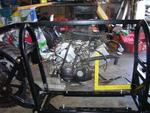 View showing the motor to be used. A 2002 Honda VFR VTEC 800